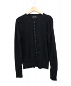 agnes b(アニエスベー)の古着「スナップカーディガン」|ブラック