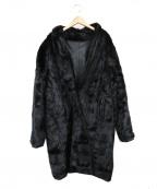 SAGA MINK(サガミンク)の古着「リバーシブルロングミンクコート」|ブラック