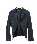 MAX&Co.(マックスアンドコー)の古着「レース切替ジャケット」 ブラック