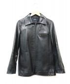 A.P.C.(アーペーセー)の古着「レザージャケット」|ブラック