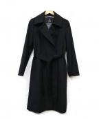 INED(イネド)の古着「カシミヤコート」 ブラック