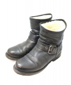 BUTTERO(ブッテロ)の古着「ムートンブーツ」 ブラック