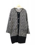 Mila Schon(ミラショーン)の古着「アルパカ裾ニットコート」|ブラック
