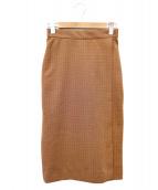 Fluid(フルイド)の古着「タイトスカート」|ブラウン
