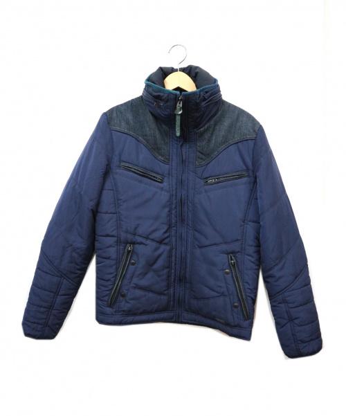 DIESEL(ディーゼル)DIESEL (ディーゼル) デニム切替中綿ジャケット ネイビー サイズ:Mの古着・服飾アイテム