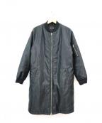 INDIVI()の古着「MA-1ダウンブルゾンコート」|ブラック