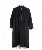 Yves Saint Laurent Rive Gauche(イヴ・サンローラン リヴ・ゴーシュ)の古着「[OLD]ヴィンテージケープロングコート」|ブラック