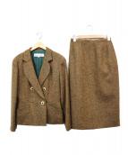 Christian Dior(クリスチャンディオール)の古着「ツイードセットアップスーツ」|ブラウン