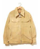 MIGHTY-MAC(マイティーマック)の古着「アンカージップコーデュロイジャケット」|ベージュ