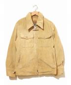 MIGHTY-MAC()の古着「アンカージップコーデュロイジャケット」|ベージュ