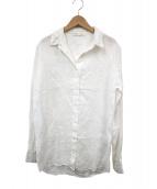 120%lino(ヒャクニジュッパーセント リノ)の古着「リネンシャツ」|ホワイト