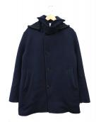 ORCIVAL(オーシバル)の古着「2WAYフーデッドPコート」|ネイビー