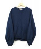Traditional Weatherwear(トラディショナルウェザーウェア)の古着「パフスリーブスウェット」|ネイビー