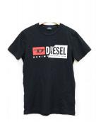 DIESEL(ディーゼル)の古着「プリントカットソー」 ブラック