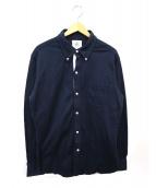 BLACK FLEECE BY Brooks Brother(ブラックフリースバイブルックスブラザーズ)の古着「鹿の子ボタンダウンシャツ」|ネイビー