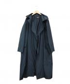 HANAE MORI(ハナエモリ)の古着「ロングトレンチコート」 ネイビー