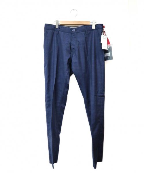 JACOB COHEN(ヤコブコーエン)JACOB COHEN (ヤコブコーエン) スラックス ネイビー サイズ:34 未使用品 イタリア製の古着・服飾アイテム