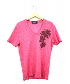 ()の古着「バックロゴプリントTシャツ」|ピンク