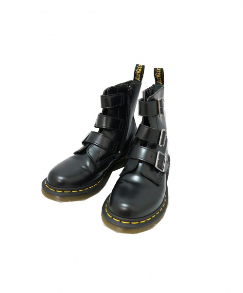 Dr.Martens(ト゛クターマーチン)Dr.Martens (ドクターマーチン) 3バックル サイドジップ レザーブーツ ブラック サイズ:UK6 BLAKE/ブレイクの古着・服飾アイテム