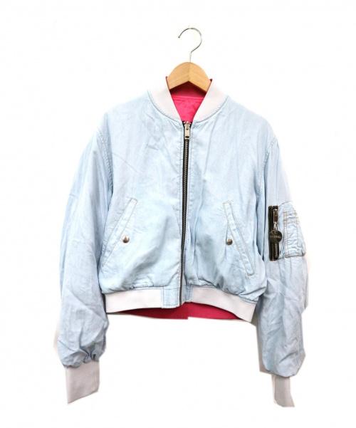 DIESEL(ディーゼル)DIESEL (ディーゼル) リバーシブルデニムMA-1ジャケット ブルー サイズ:Sの古着・服飾アイテム