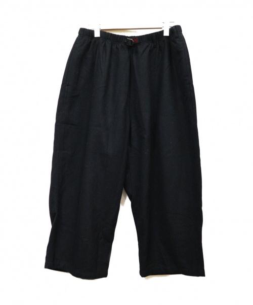 GRAMICCI(グラミチ)GRAMICCI (グラミチ) ボリュームワイドパンツ ブラック サイズ:Lの古着・服飾アイテム