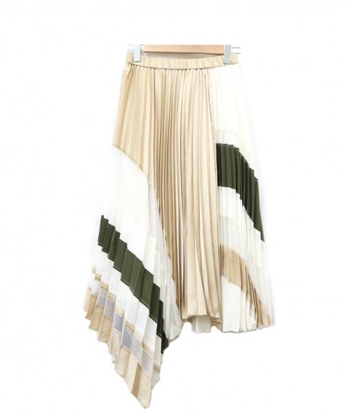 Diagram GRACE CONTINENTAL(ダイアグラムグレースコンチネンタル)Diagram GRACE CONTINENTAL (ダイアグラム グレースコンチネンタル) プリーツスカート ホワイト サイズ:36の古着・服飾アイテム