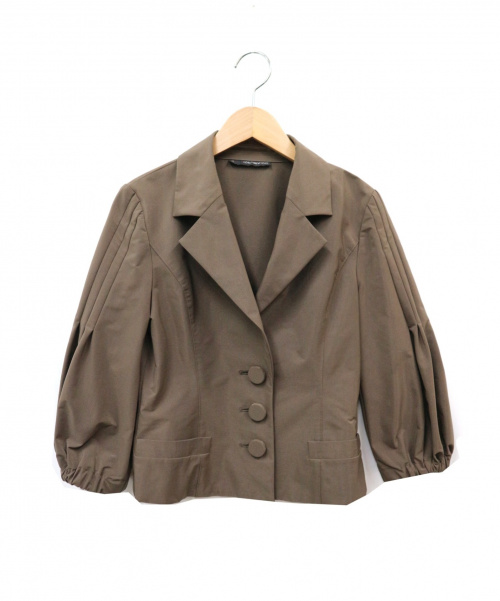 FOXEY NEWYORK(フォクシーニューヨーク)FOXEY NEWYORK (フォクシーニューヨーク) ショートジャケット ブラウン サイズ:38 日本製の古着・服飾アイテム