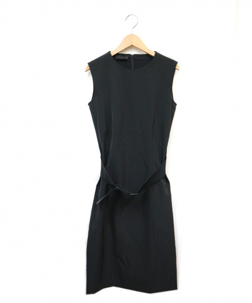 PRADA(プラダ)PRADA (プラダ) ジャージーノースリーブワンピース ブラック サイズ:M イタリア製の古着・服飾アイテム