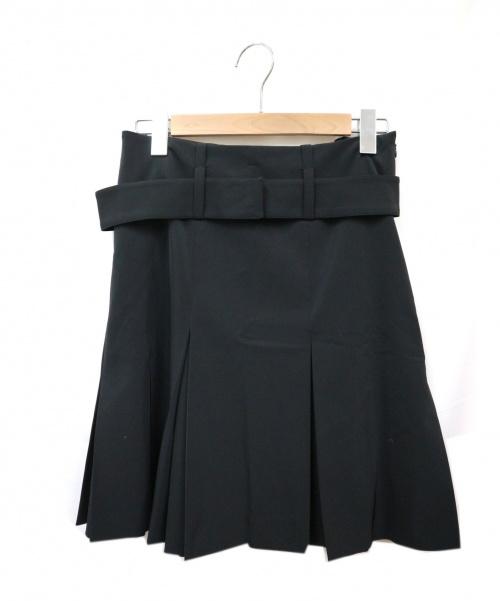 PRADA(プラダ)PRADA (プラダ) プリーツスカート ブラック サイズ:38 イタリア製の古着・服飾アイテム