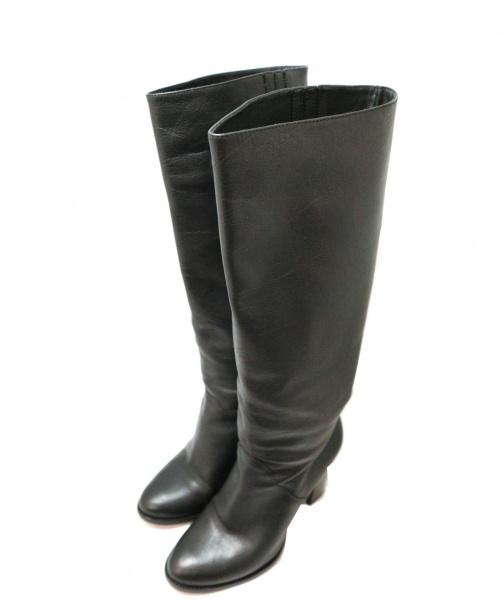 JIMMY CHOO(ジミーチュウ)JIMMY CHOO (ジミーチュウ) ロングブーツ ブラック サイズ:38 イタリア製の古着・服飾アイテム