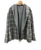 ()の古着「フーデッドジャケット」 グレー