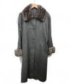 USED(ユーズド)の古着「ファー付カシミヤコート」|グレー