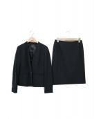 LAUTRE AMONT(ロートレアモン)の古着「Vネックセットアップスーツ」|ブラック
