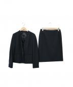 LAUTRE AMONT(ロートレアモン)の古着「Vネックセットアップスーツ」 ブラック