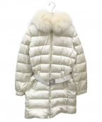 PRADA(プラダ)の古着「ブルーフォックスファーダウンコート」|ホワイト