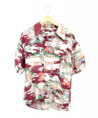 WAREHOUSE(ウェアハウス)の古着「和柄アロハシャツ」|レッド