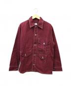 POST OALLS(ポストオーバーオールズ)の古着「クルーザージャケット」|パープル