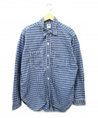 POST OALLS(ポストオーバーオールズ)の古着「チェックワークシャツ」|ブルー