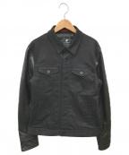 LOVELESS(ラブレス)の古着「レザー袖トラッカージャケット」|ブラック