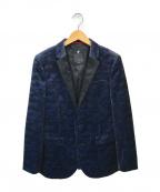 LOVELESS(ラブレス)の古着「ベロアタキシードジャケット」|ネイビー