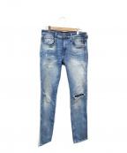 REPLAY(リプレイ)の古着「ダメージ加工デニムパンツ」|ブルー