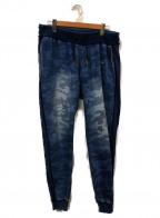 1PIU1UGUALE3 RELAX(ウノピゥウノウグァーレトレリラックス)の古着「スウェットパンツ」 ブルー