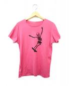 ()の古着「スケータースカルプリントTシャツ」 ショッキングピンク