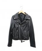 NINE(ナイン)の古着「ラムレザーライダースジャケット」|ブラック