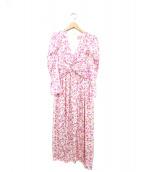 Kate Spade(ケイトスペード)の古着「総柄ドレスワンピース」|ピンク