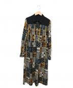 Lois CRAYON(ロイスクレヨン)の古着「プリーツシャツワンピース」|ブラウン