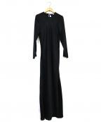 BASERANGE(ベースレンジ)の古着「長袖シルクワンピース」|ブラック
