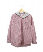 CMMN SWDN(コモン スウェーデン)の古着「フードドッキングシャツ」|レッド