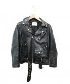 beautiful people(ビューティフルピープル)の古着「vintage leather riders jacket」 ブラック