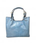 PELLE BORSA(ペレボルサ)の古着「ハンドバッグ」 ブルー